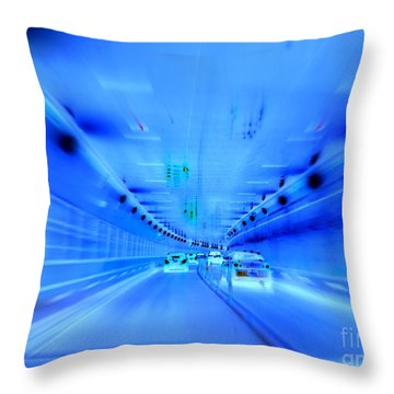 Tunnel Tension Throw Pillow by Ed Weidman