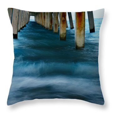 Turbulence Throw Pillow by Laura Fasulo