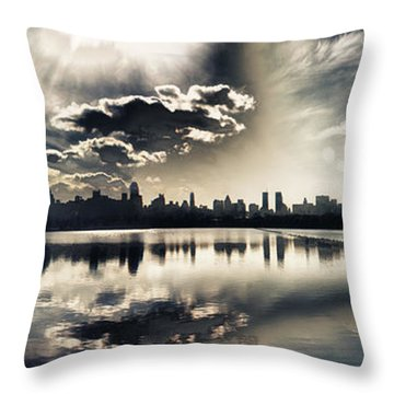 Turbulent Afternoon Throw Pillow by Nishanth Gopinathan
