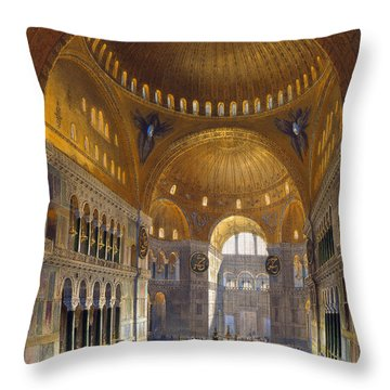Turkey: Hagia Sopia, 1852 Throw Pillow by Granger