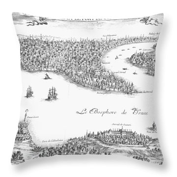 Turkey: Istanbul, 1680 Throw Pillow by Granger