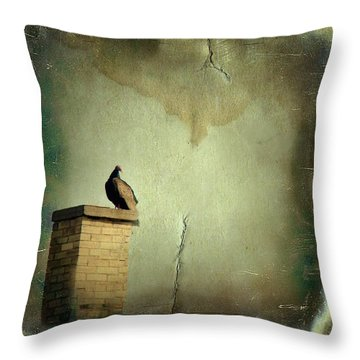 Turkey Vulture Throw Pillow by Gothicrow Images