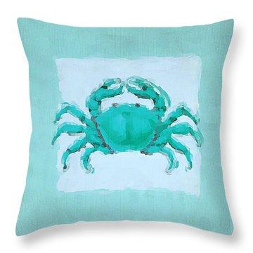 Turquoise Seashells I Throw Pillow by Lourry Legarde