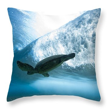 Turtle Clouds Throw Pillow by Sean Davey
