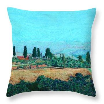 Tuscan Farm Throw Pillow by Allan P Friedlander