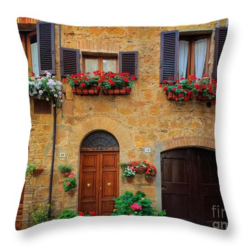 Tuscan Homes Throw Pillow by Inge Johnsson