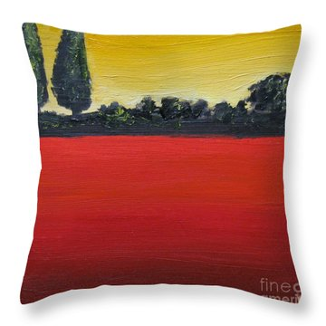 Tuscan Sunrise Throw Pillow by Venus