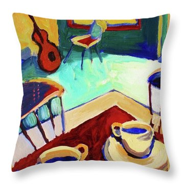 Twilight Coffee Cafe Throw Pillow by Frederick  Luff