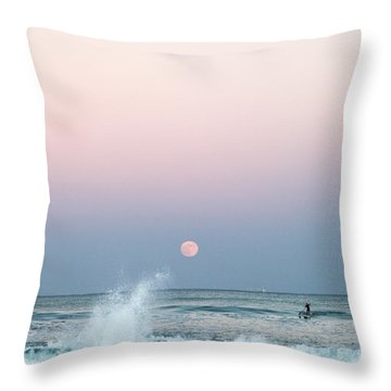 Twilight In Rose Throw Pillow by Michelle Wiarda