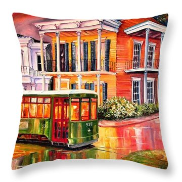 Twilight In The Garden District Throw Pillow by Diane Millsap