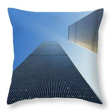 Twin Towers Throw Pillow by Jon Neidert