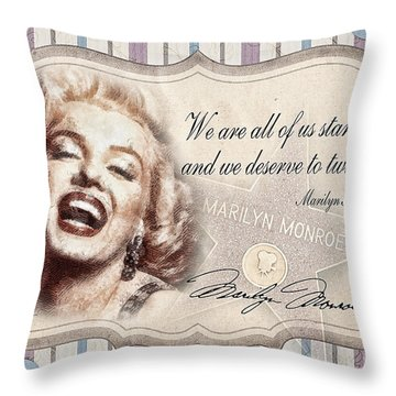 Twinkle Little Star Throw Pillow by Mo T