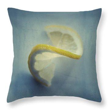 Twisted Lemon Throw Pillow by Ari Salmela