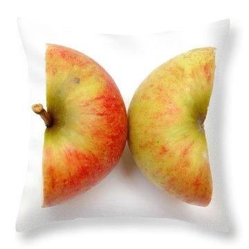 Two Apple Halves Throw Pillow by Michal Bednarek
