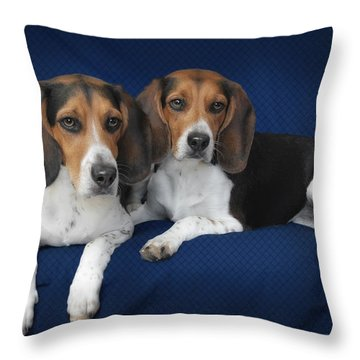 Two Brothers Throw Pillow by Christine Till