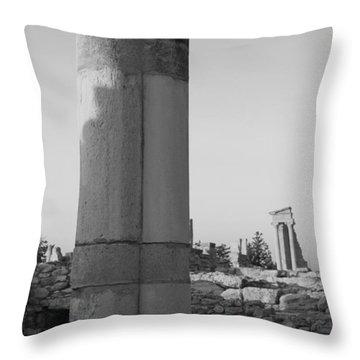 Two Columns At Apollo Sanctuary Throw Pillow by Augusta Stylianou