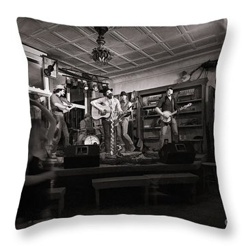 Two Girls Dancing At The Purple Fiddle Throw Pillow by Dan Friend