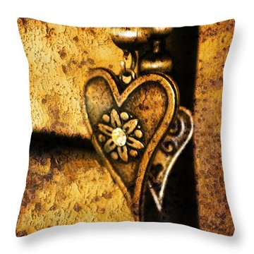 Two Hearts Together Throw Pillow by Randi Grace Nilsberg