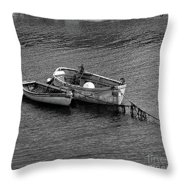 Two Old Rowboats Throw Pillow by Kathleen Struckle
