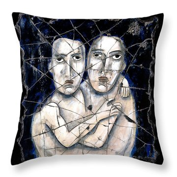 Two Souls Throw Pillow by Steve Bogdanoff