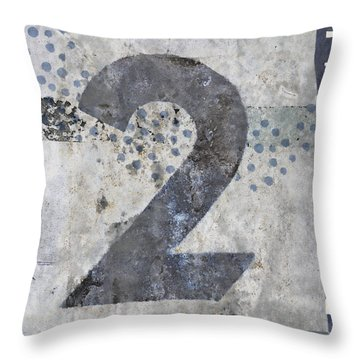 Two Swimming Throw Pillow by Carol Leigh