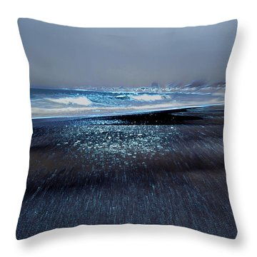 Two Waves Throw Pillow by Kathy Bassett