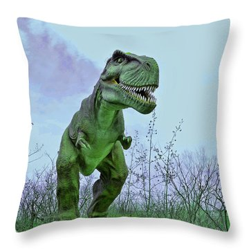 Tyrannosaurus Rex  T- Rex Throw Pillow by Allen Beatty