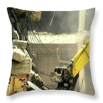Tyrannosaurus Wrecks Throw Pillow by Joe Jake Pratt