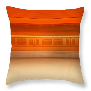 U-motion Throw Pillow by Hannes Cmarits