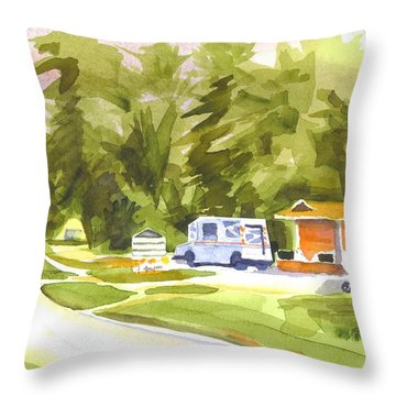 U S Mail Delivery Throw Pillow by Kip DeVore