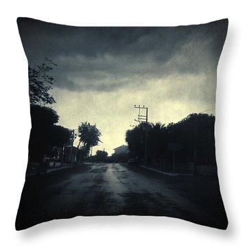 U-turn Throw Pillow by Taylan Apukovska