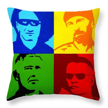 U2 Throw Pillow by John  Nolan