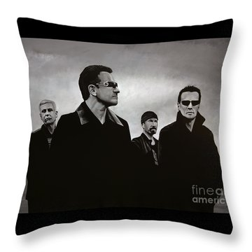 U2 Throw Pillow by Paul Meijering