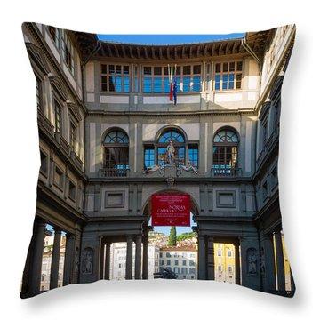 Uffizi Throw Pillow by Inge Johnsson
