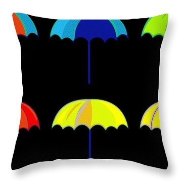 Umbrella Ella Ella Ella Throw Pillow by Florian Rodarte