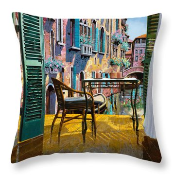 Un Soggiorno A Venezia Throw Pillow by Guido Borelli