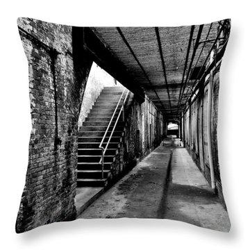 Under Alcatraz Throw Pillow by Benjamin Yeager