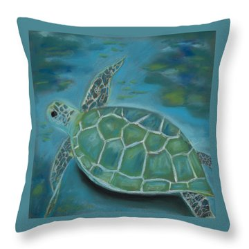 Under The Sea Throw Pillow by Mary Benke