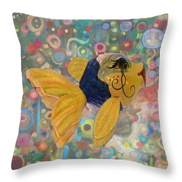 Under The Sea Party Throw Pillow by Sandi OReilly