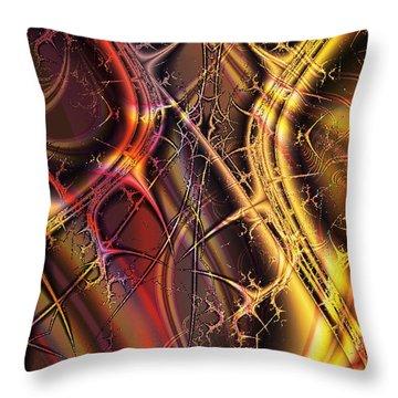 Under The Surface Throw Pillow by Anastasiya Malakhova