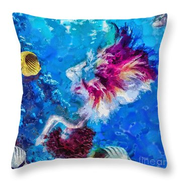 Underneath Throw Pillow by Mo T