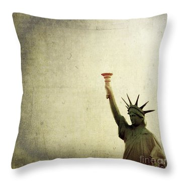 Understanding Liberty Throw Pillow by Trish Mistric