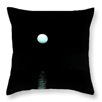 Underwater Sunset Throw Pillow by Max Mullins
