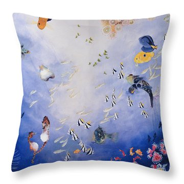 Underwater World Iv  Throw Pillow by Odile Kidd