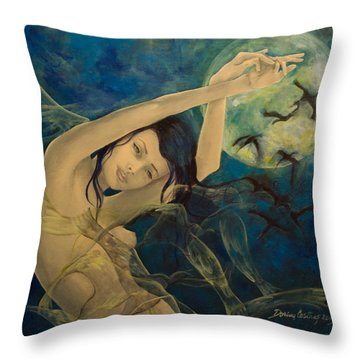 Unfinished Song Throw Pillow by Dorina  Costras