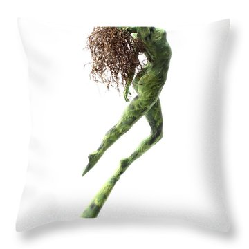 Unfurled Back View Throw Pillow by Adam Long