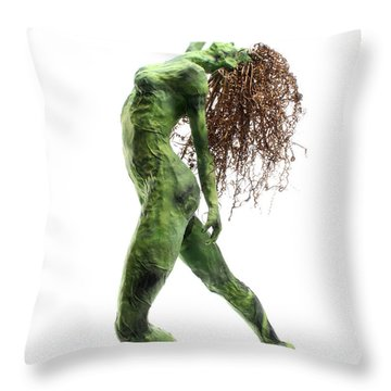 Unfurled Side View Detail Throw Pillow by Adam Long