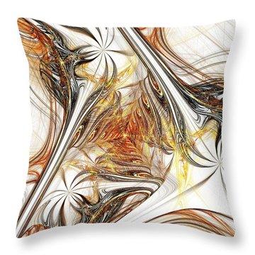 Unicorn Path Throw Pillow by Anastasiya Malakhova