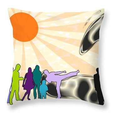 Unification Throw Pillow by Anastasiya Malakhova