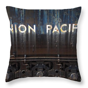 Union Pacific - Big Boy Tender Throw Pillow by Paul W Faust -  Impressions of Light